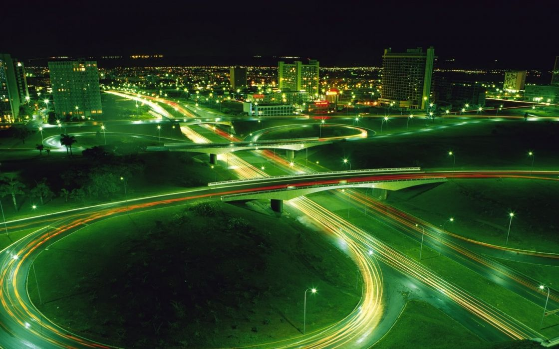 light night lights cars long exposure cities time lapse wallpaper