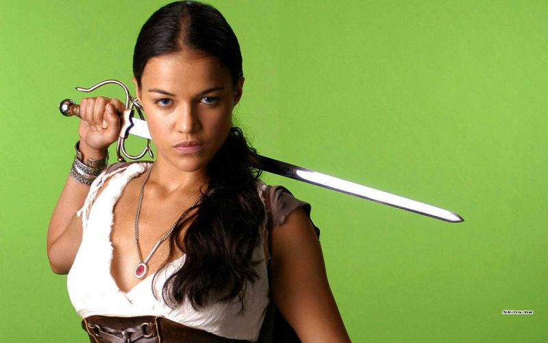 women Michelle Rodriguez swords wallpaper