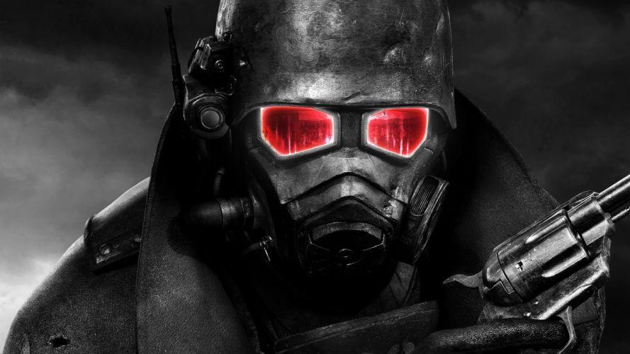 video games Fallout selective coloring wallpaper