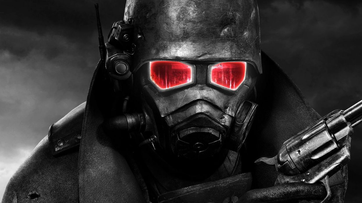 video games Fallout selective coloring wallpaper