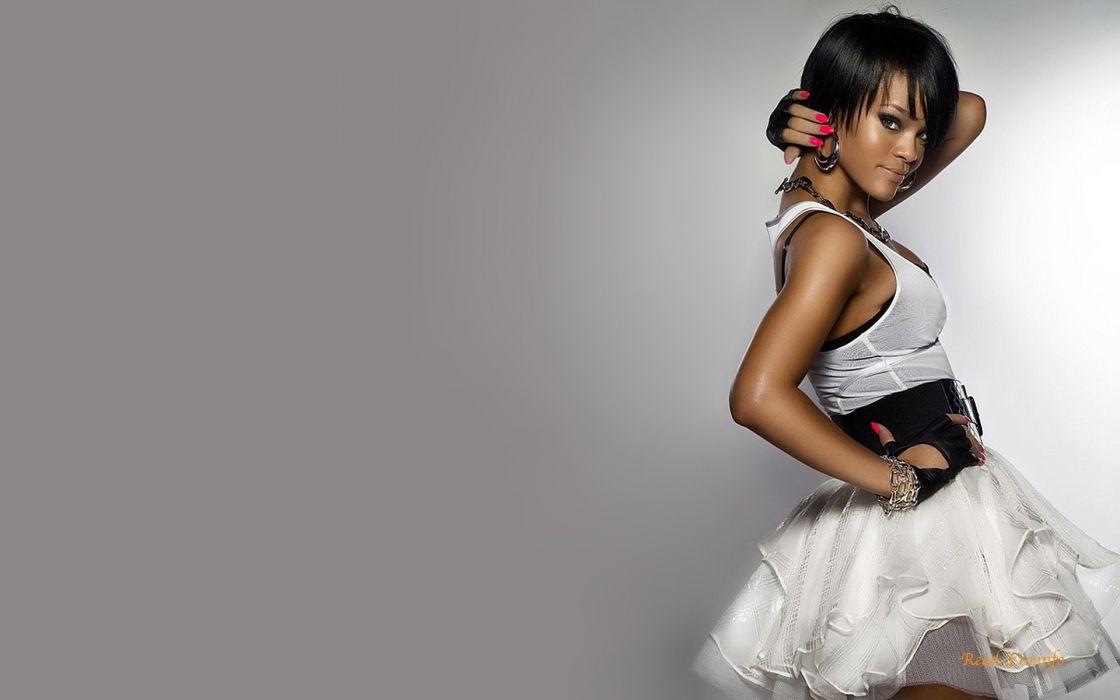 women Rihanna models bangs wallpaper