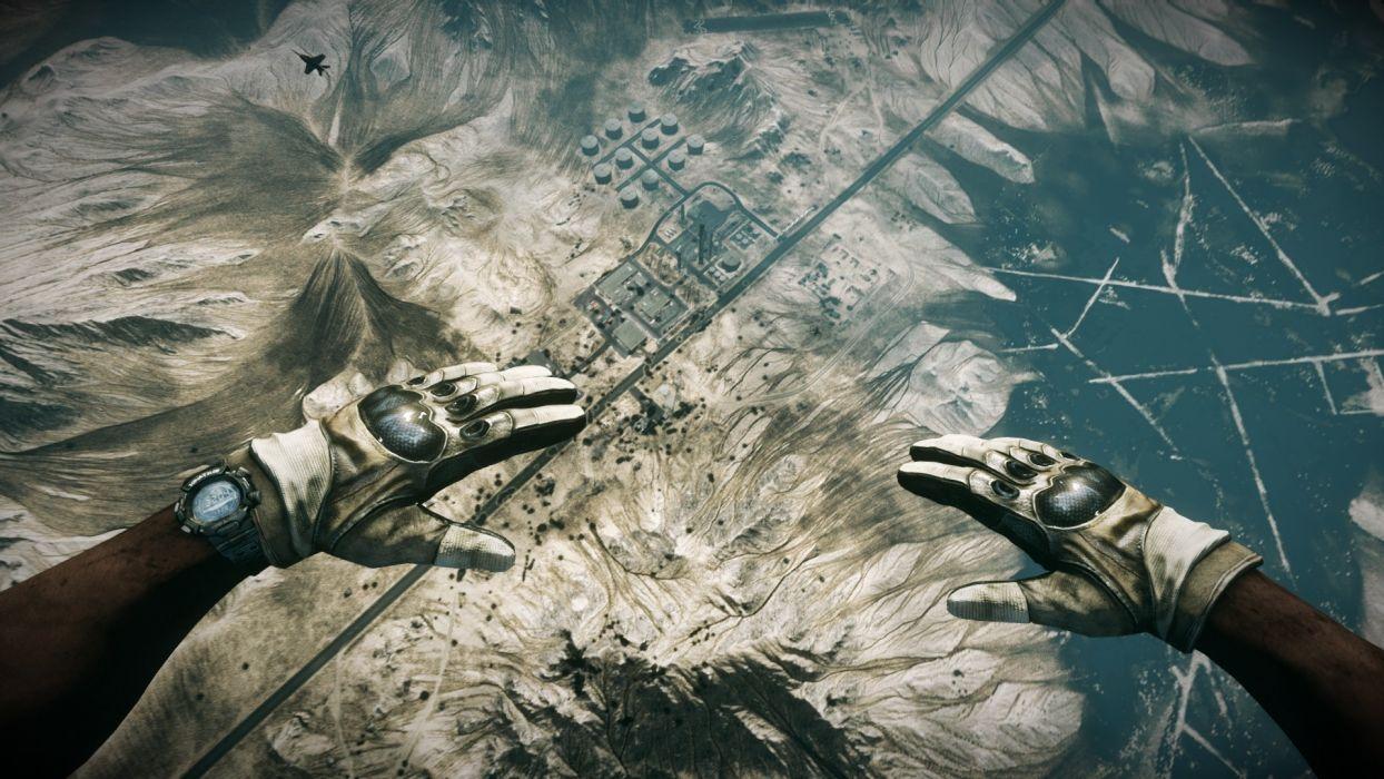 war Battlefield Battlefield 3 parachute Dust 514 game wallpaper