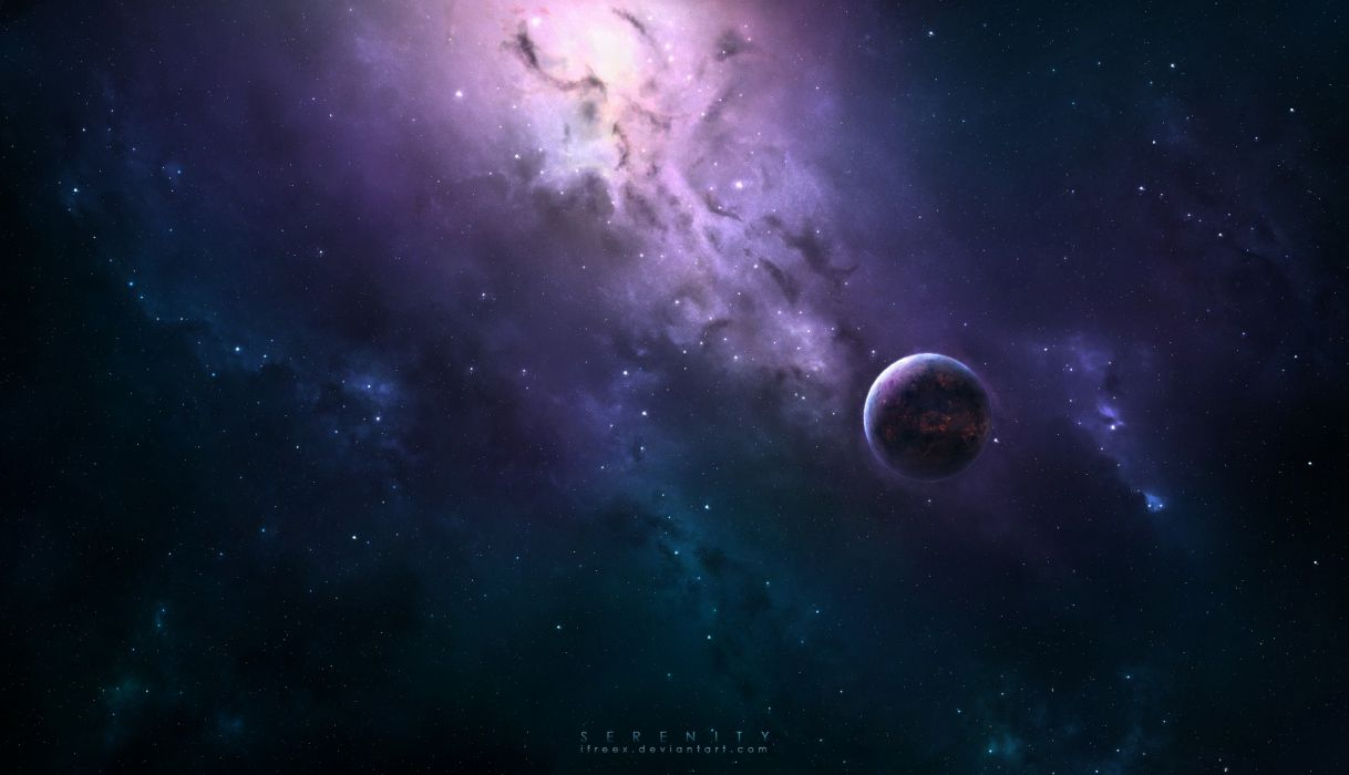 Serenity outer space planets wallpaper