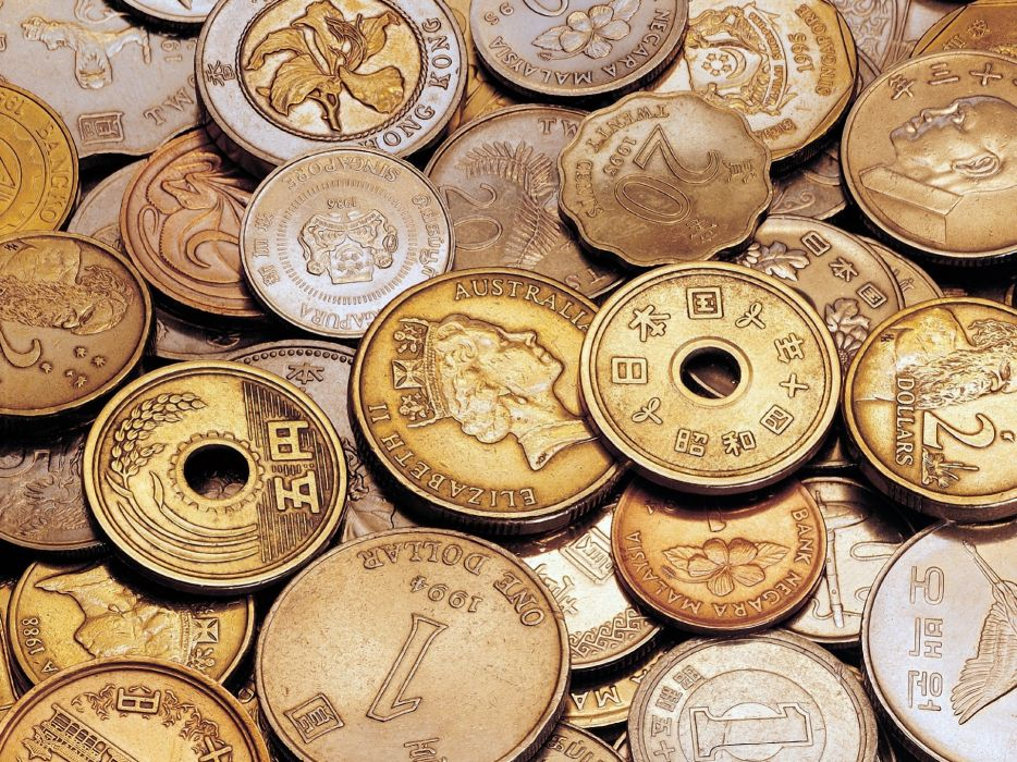 Japan coins money Hong Kong Taiwan wallpaper