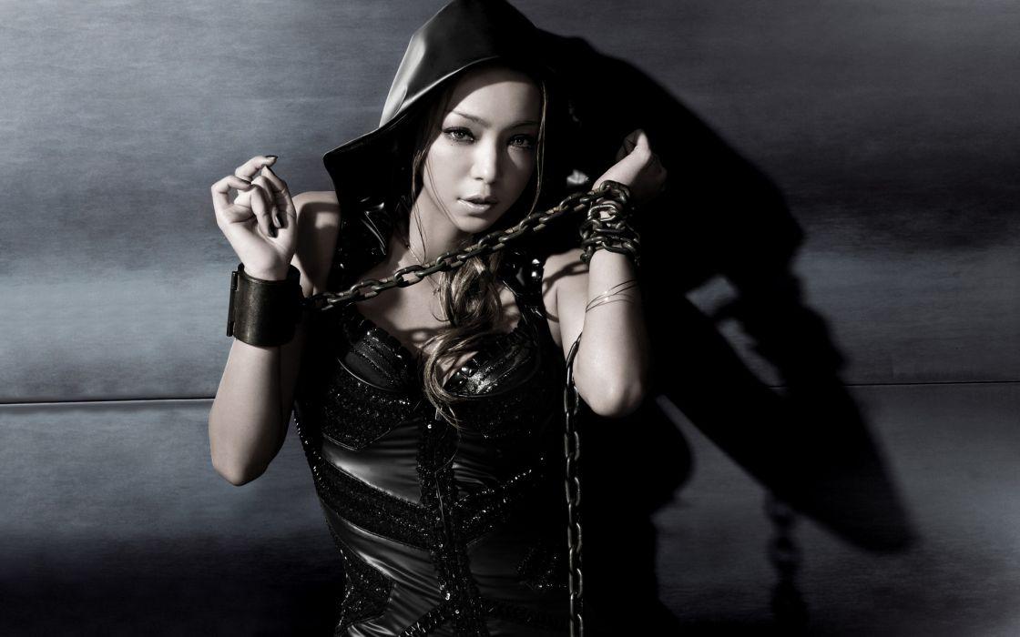women Japanese Asians singers chains Amuro Namie jpop wallpaper