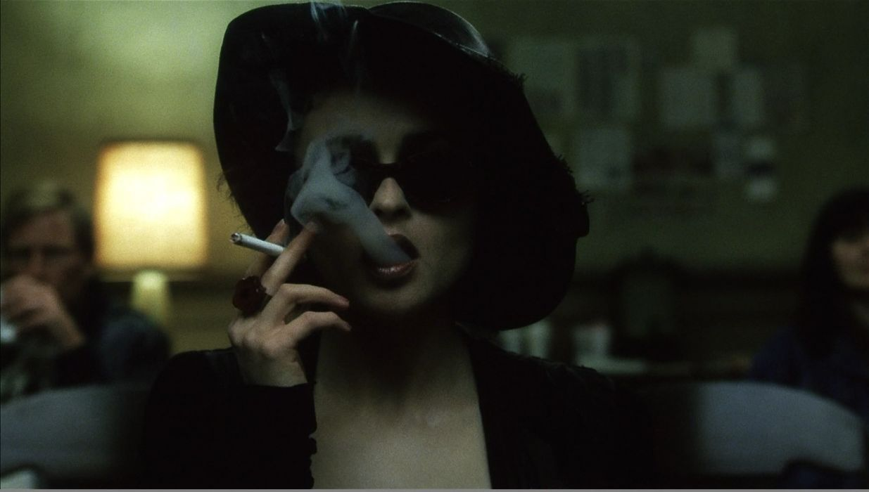 smoking Fight Club Helena Bonham Carter cigarettes Marla Singer wallpaper