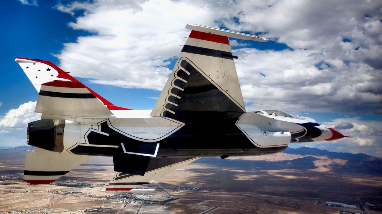 falcon F-16 Fighting Falcon widescreen stunt flying USAF USAF Thunderbirds wallpaper