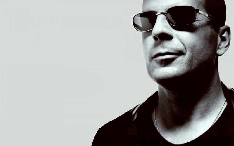 glasses celebrity actors Bruce Willis wallpaper