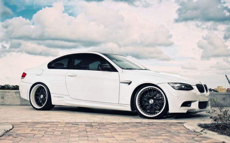 white cars engines vehicles supercars tuning wheels BMW M3 sports cars luxury sport cars speed automobiles wallpaper
