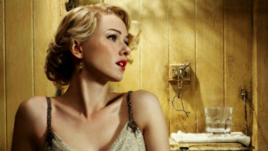 blondes women vintage retro lips wallpaper