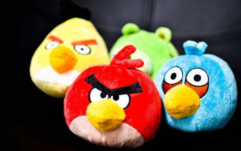 snow Angry Birds wallpaper
