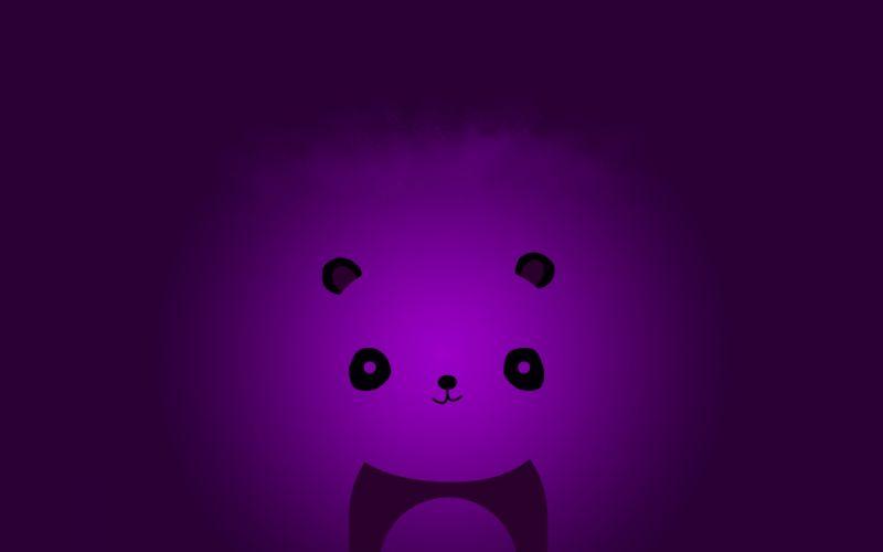 abstract minimalistic violet panda bears wallpaper