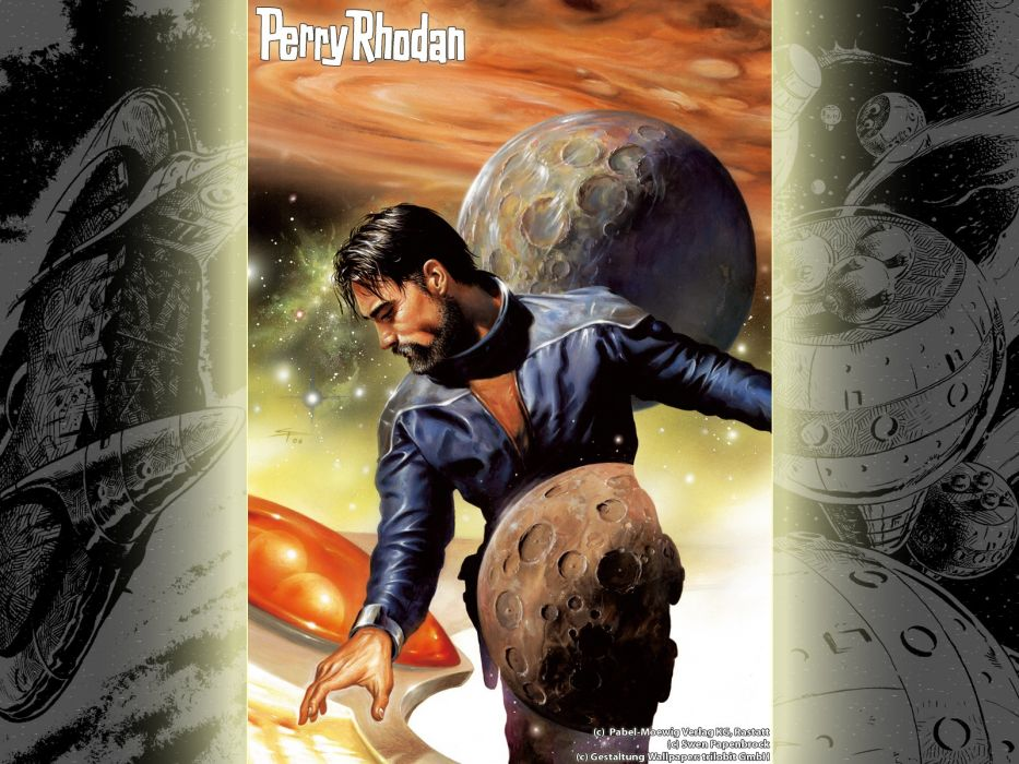 outer space magazines Perry Rhodan science fiction wallpaper