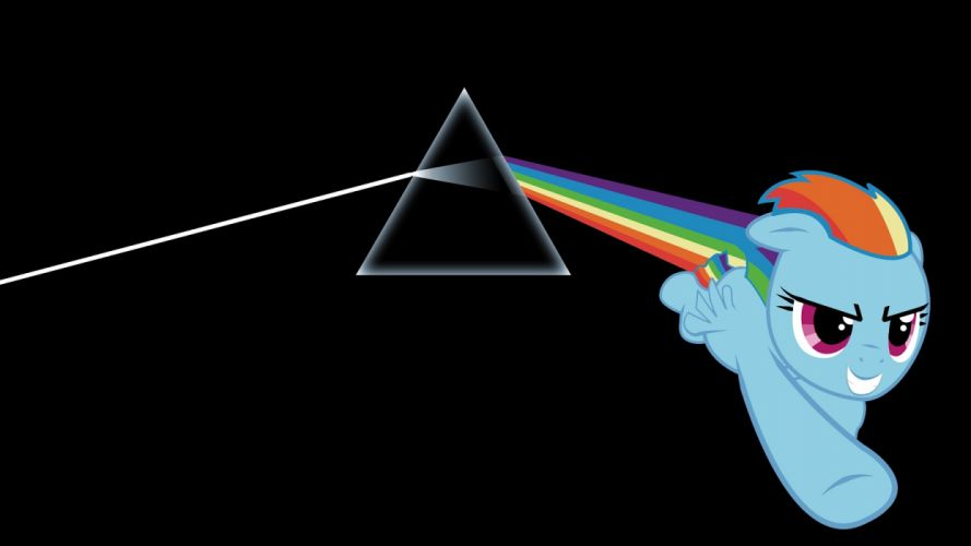 Pink Floyd My Little Pony The Dark Side Of The Moon Rainbow Dash wallpaper