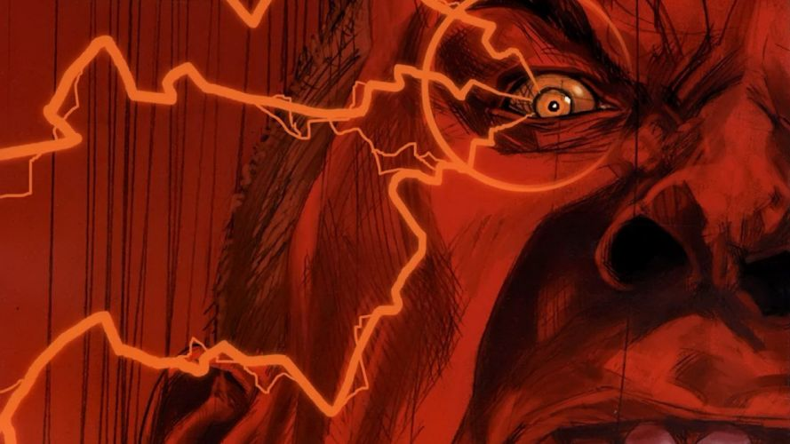close-up eyes red comics angry anger BOOM! Comics Irredeemable Plutonian wallpaper