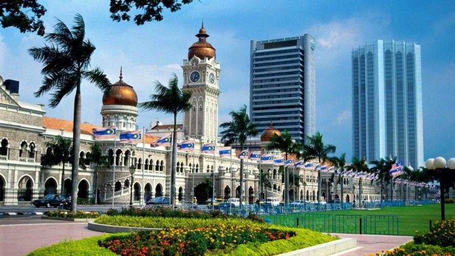 Malaysia Asia Kuala Lumpur sultan abdul samad building wallpaper