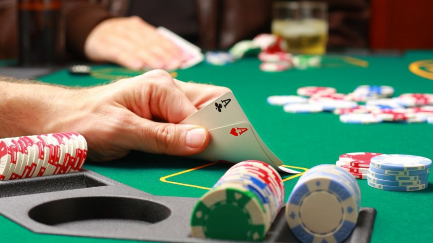 cards palm poker Ace chips Pocket Aces wallpaper