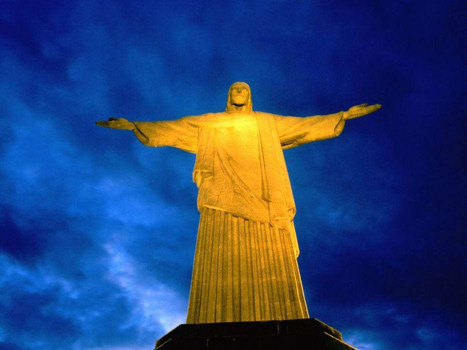 Brazil Rio De Janeiro statues Cristo Redentor Christ the Redeemer wallpaper