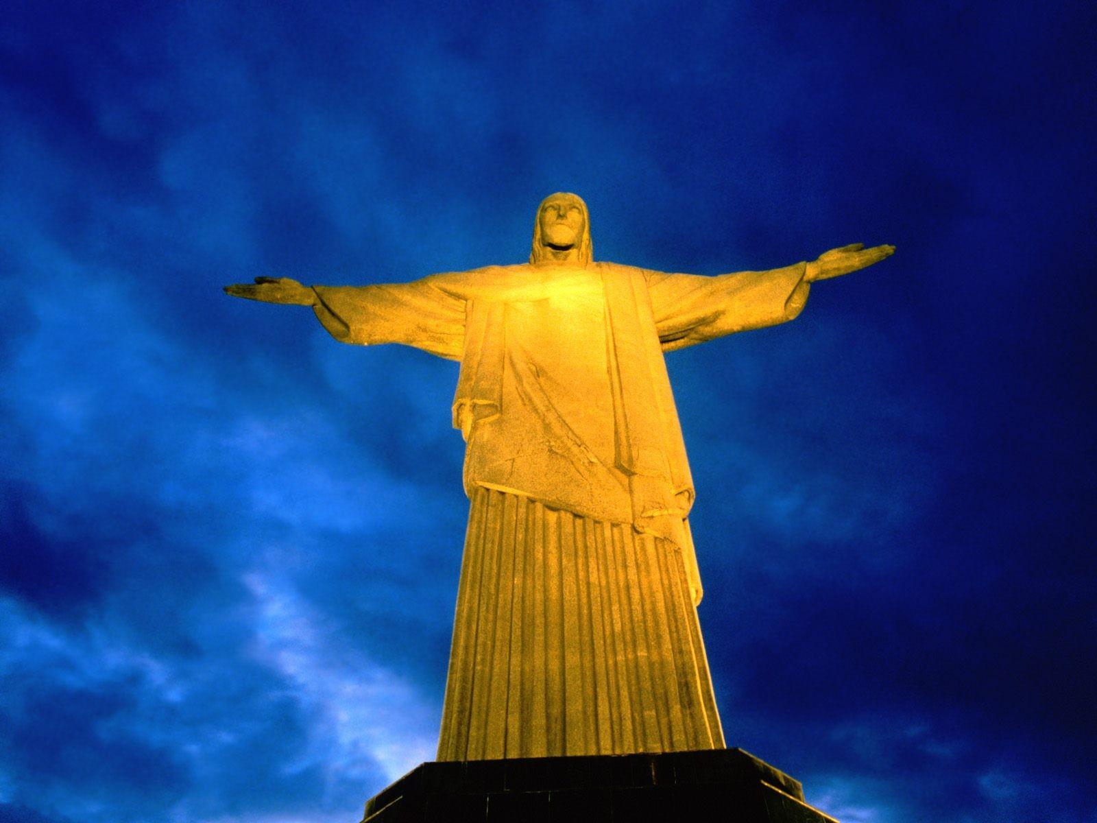 Walpaper Cristo Redendtor: Brazil Rio De Janeiro Statues Cristo Redentor Christ The