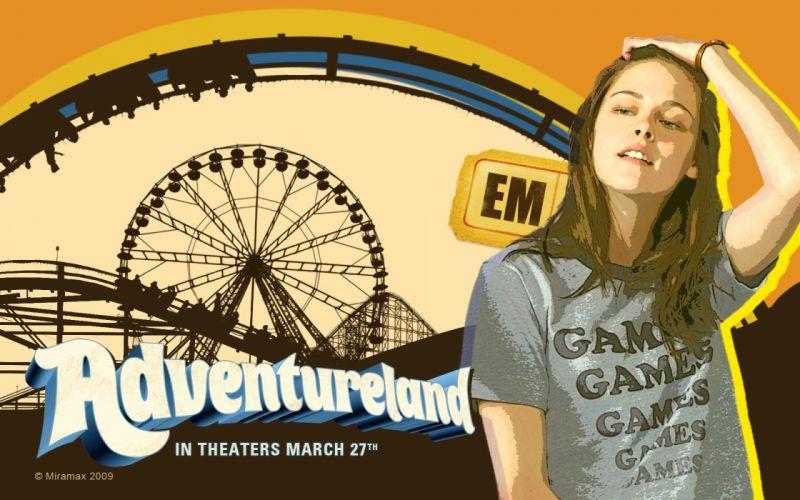women Kristen Stewart actress celebrity ferris wheels movie posters Adventureland wallpaper