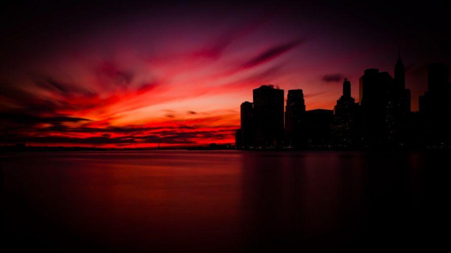 sunset Manhattan wallpaper