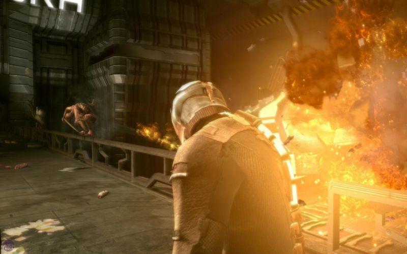 explosions fire Dead Space wallpaper