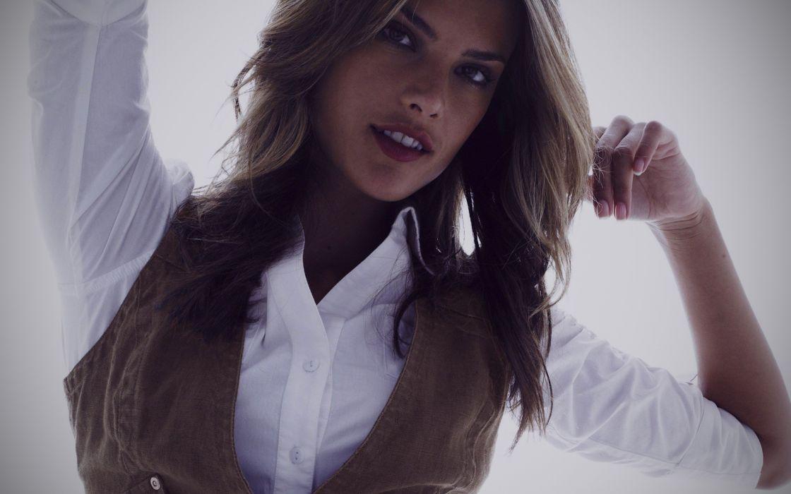 brunettes women models Alessandra Ambrosio wallpaper