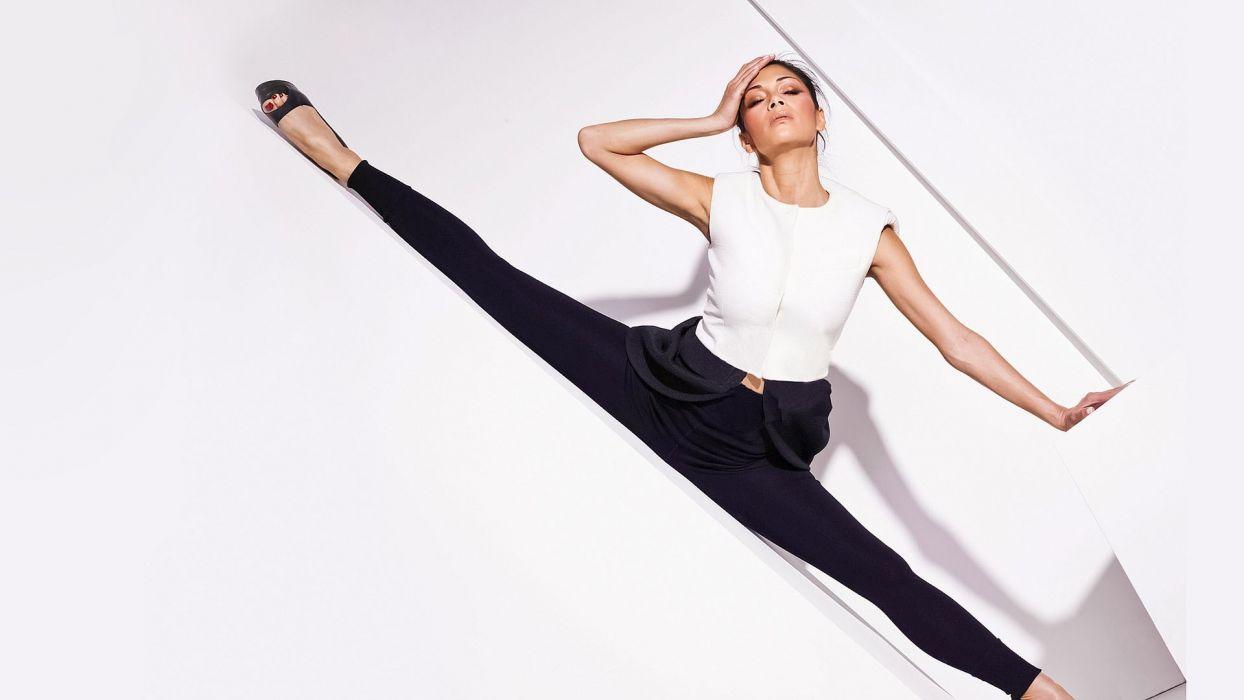 legs women leggings high heels Nicole Scherzinger wallpaper