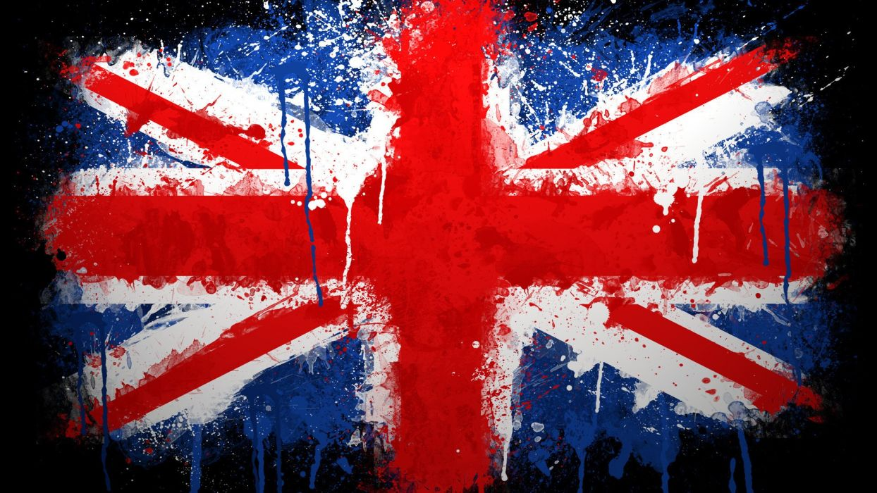 flags United Kingdom paintwork wallpaper