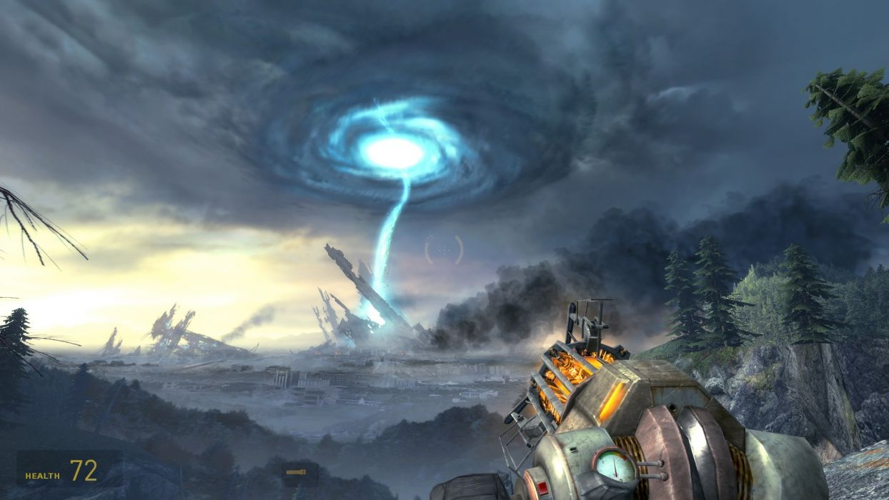 Half-Life wormhole wallpaper