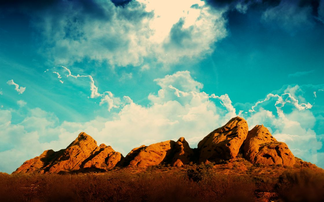 clouds landscapes desert wallpaper
