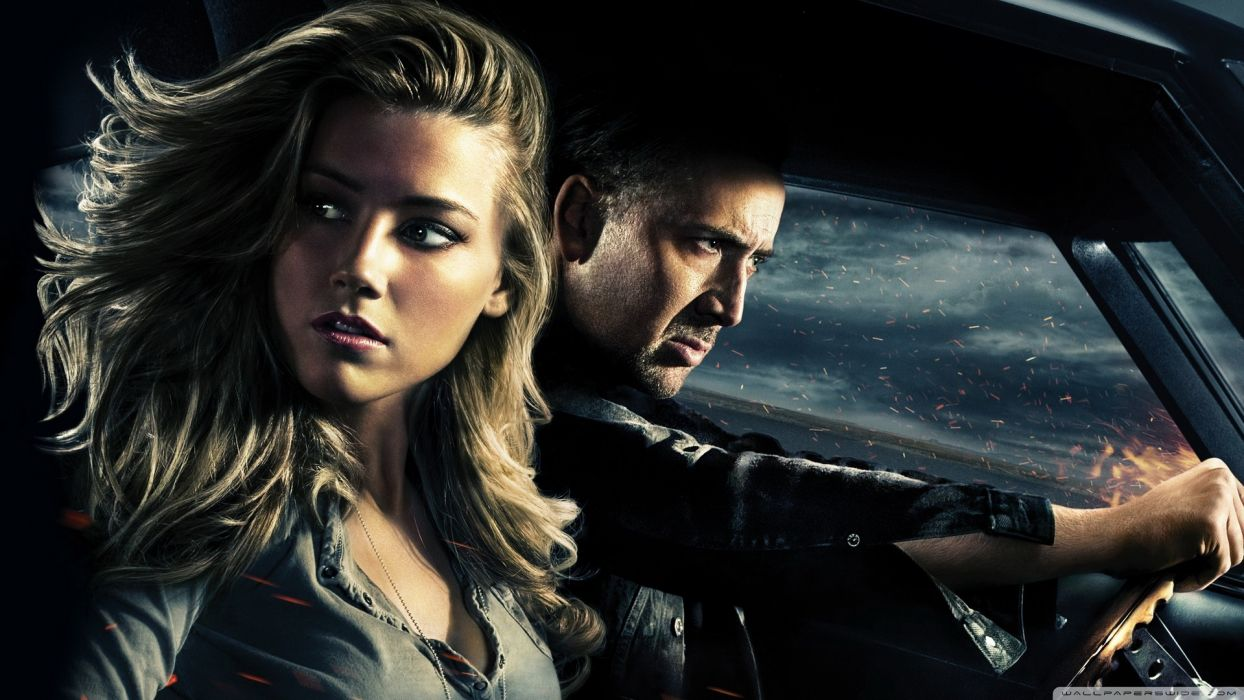 actress USA film Amber Heard actors Hollywood Nicolas Cage Drive Angry wallpaper