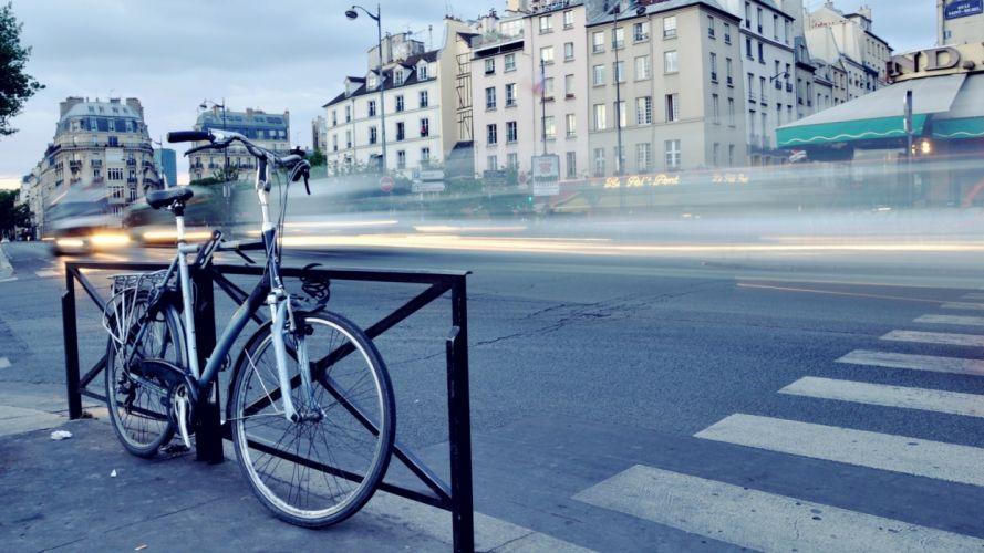 cityscapes bicycles roads land wallpaper