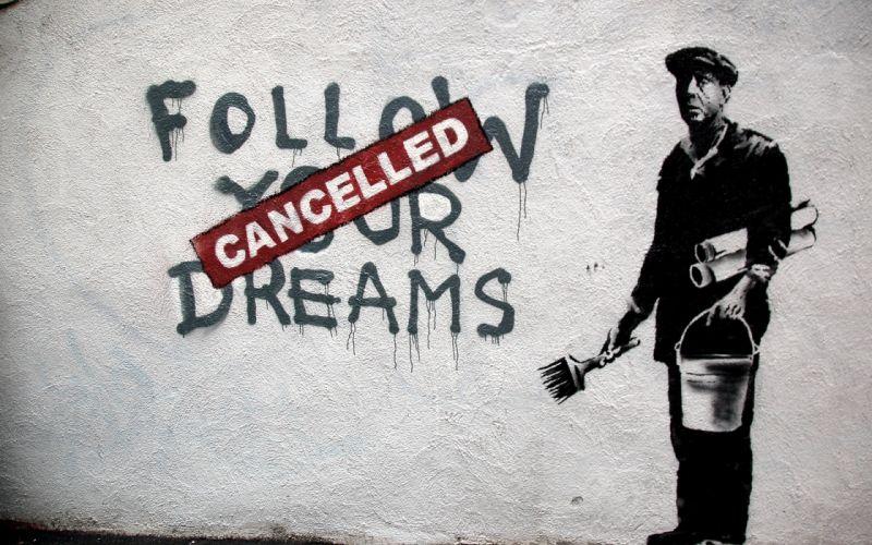 wall graffiti Banksy Cancelled wallpaper