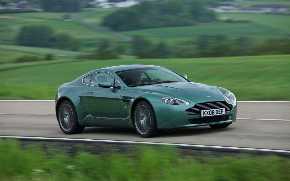 green cars roads Aston Martin wallpaper