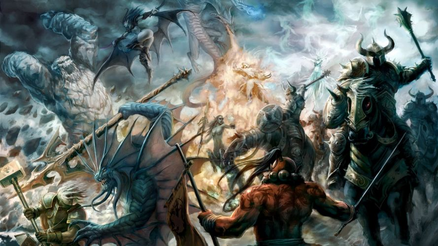 fantasy art DotA battles wallpaper