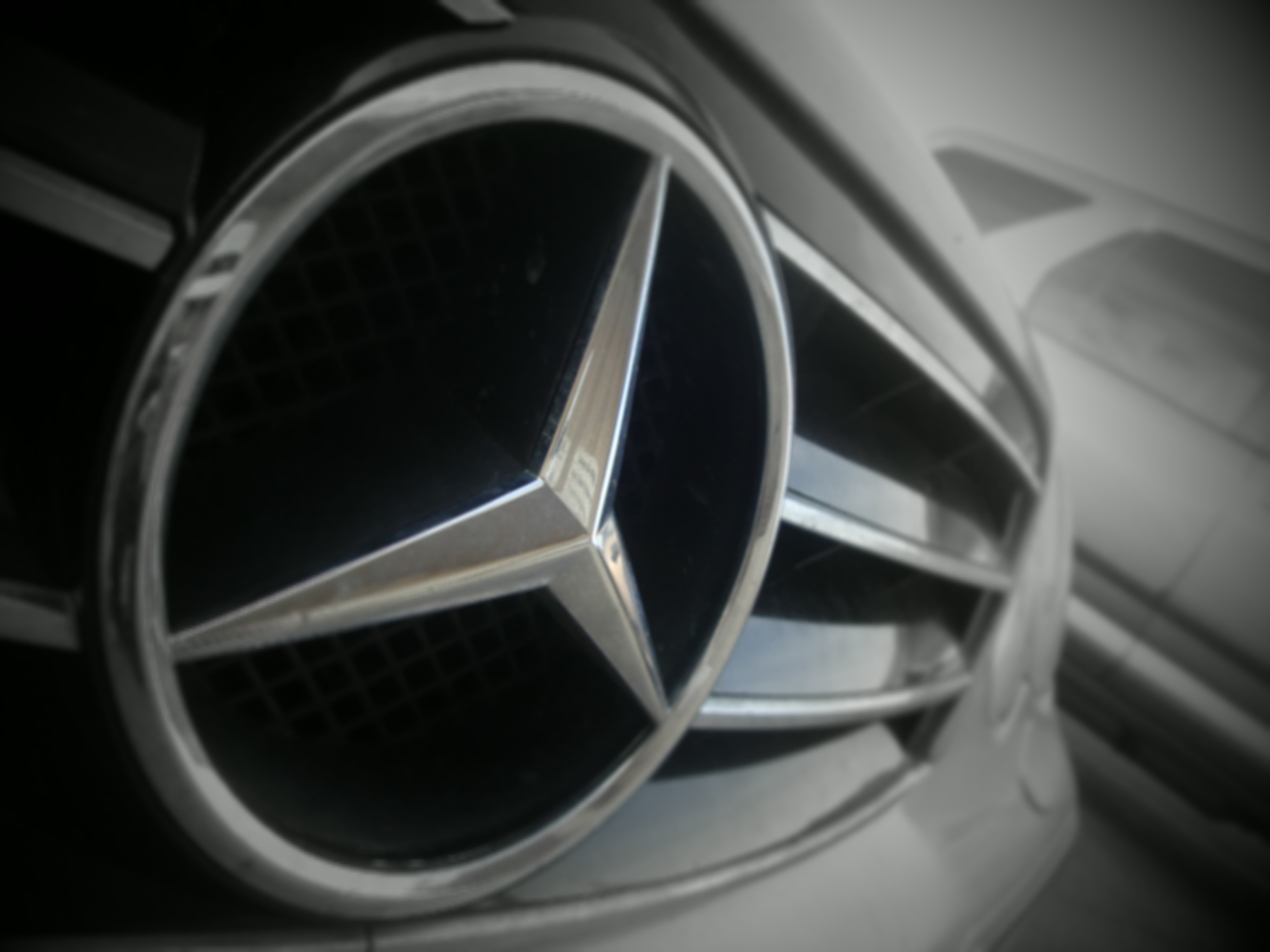Black And White Cars Badges Mercedes Benz Wallpaper 4000x3000