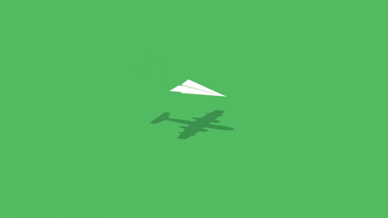aircraft minimalistic wall humor imagination paper plane wallpaper
