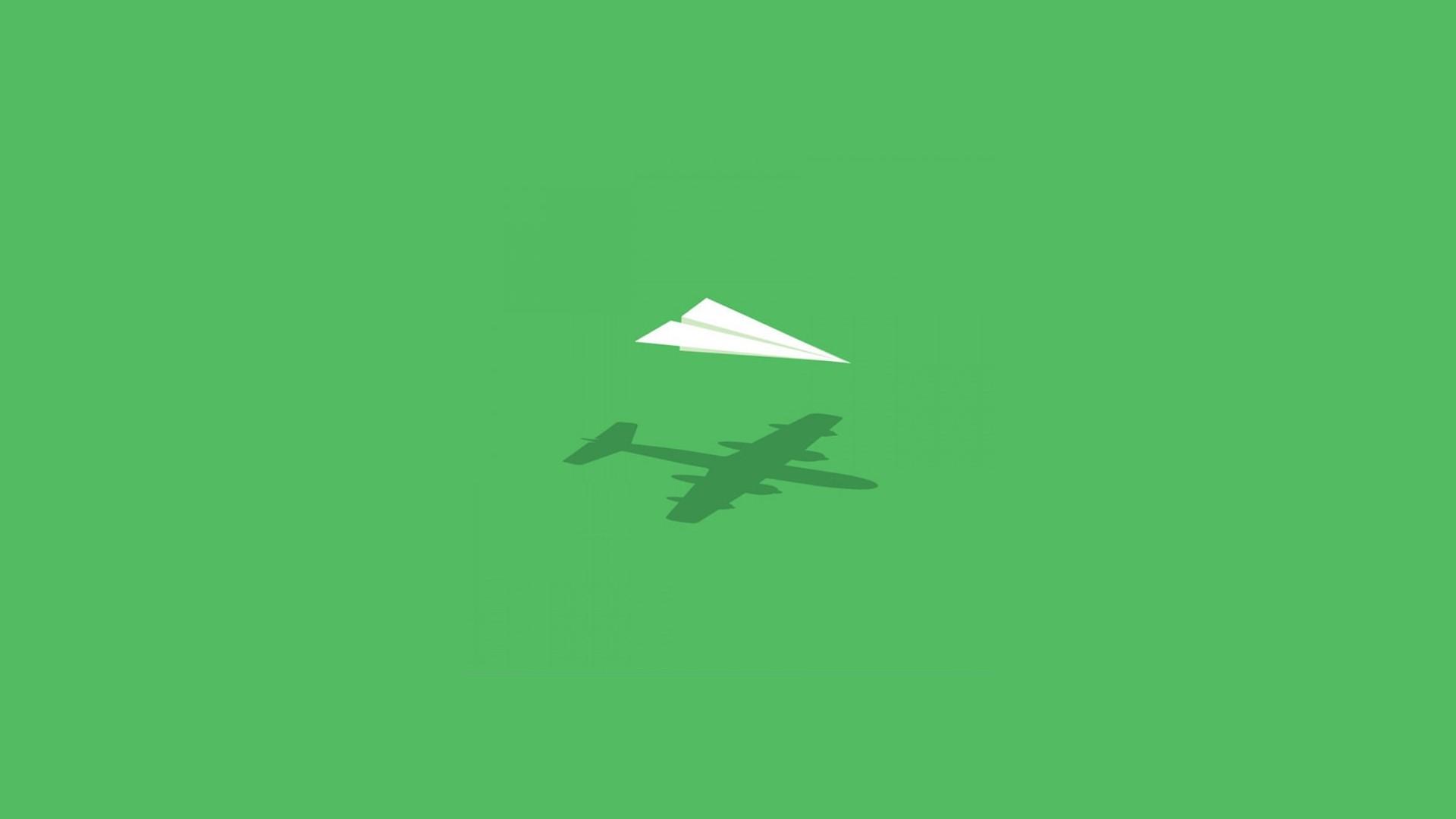Aircraft Minimalistic Wall Humor Imagination Paper Plane Wallpaper