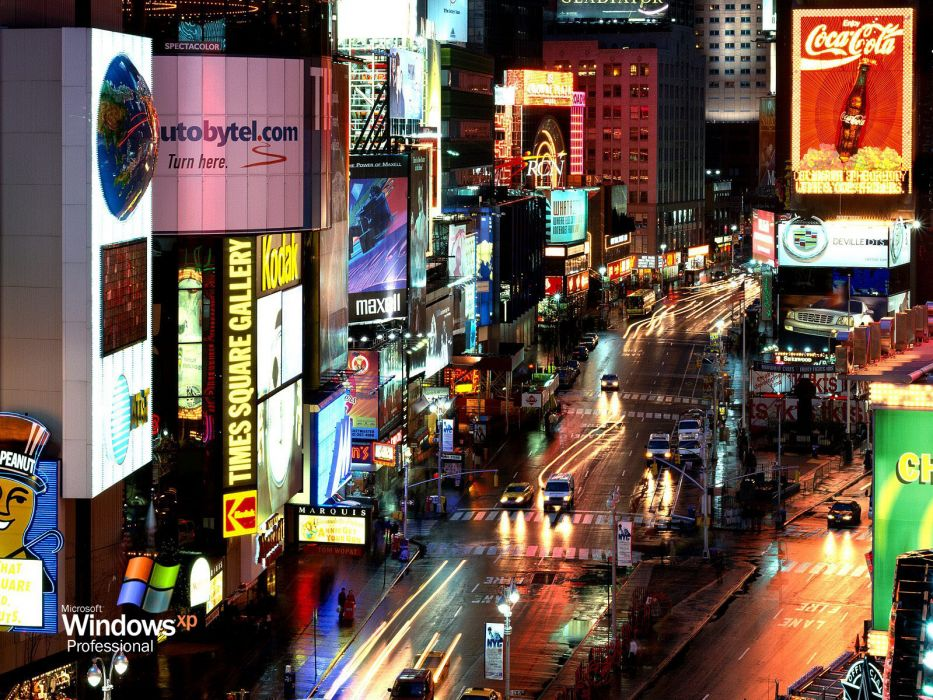 traffic lights Times Square wallpaper