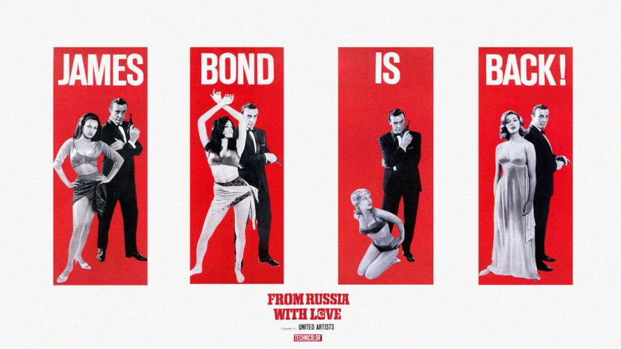 women James Bond Sean Connery From Russia with Love posters wallpaper