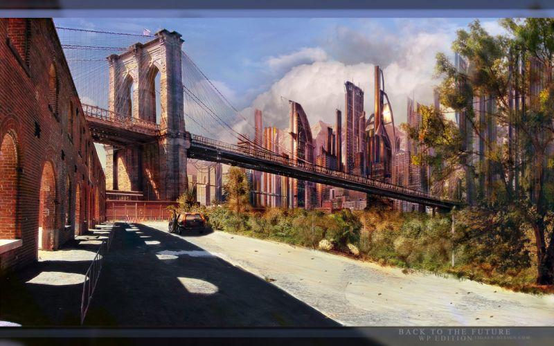 cityscapes bridges sunlight artwork arches wallpaper