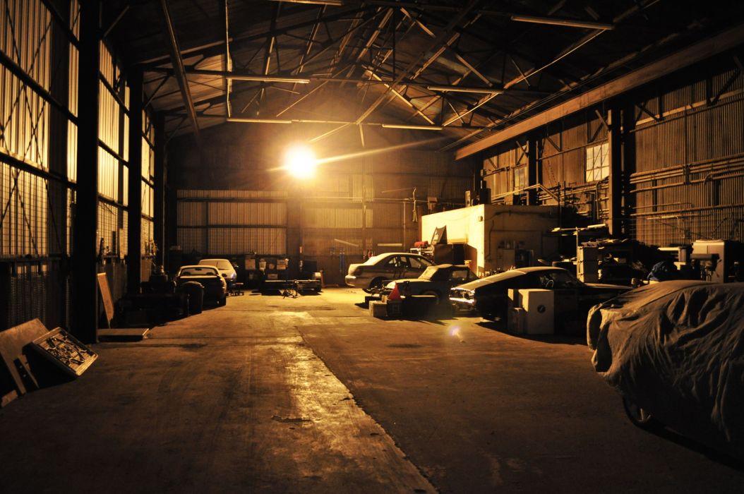 cars Ford Mustang Subaru Impreza workspace garage wallpaper