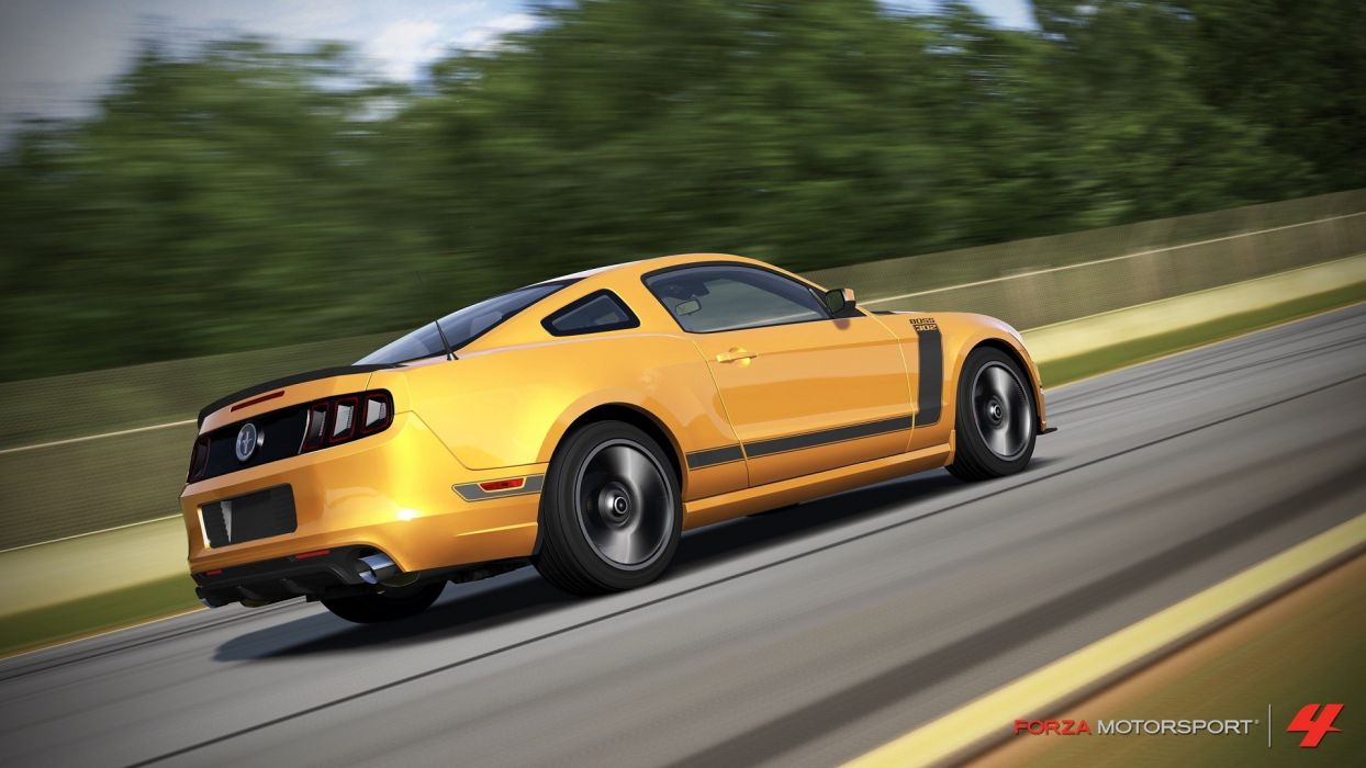 video games cars Ford Mustang Xbox 360 Forza Motorsport 4 Boss 302 wallpaper