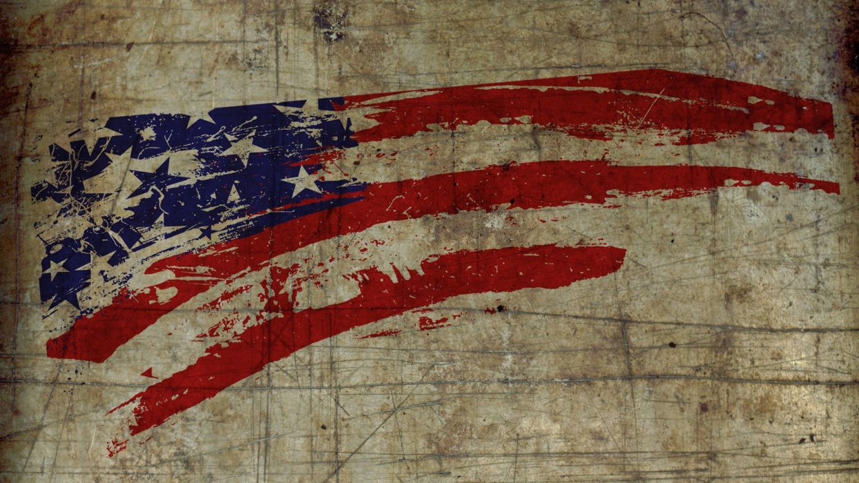 grunge flags USA textures wallpaper