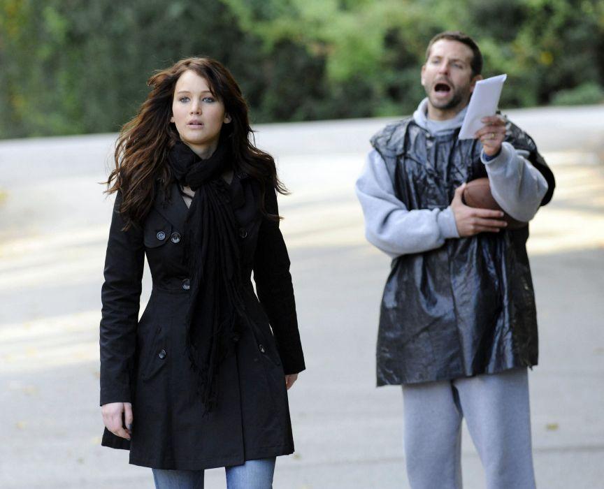 brunettes movies Bradley Cooper Jennifer Lawrence stills Silver lining playbook wallpaper