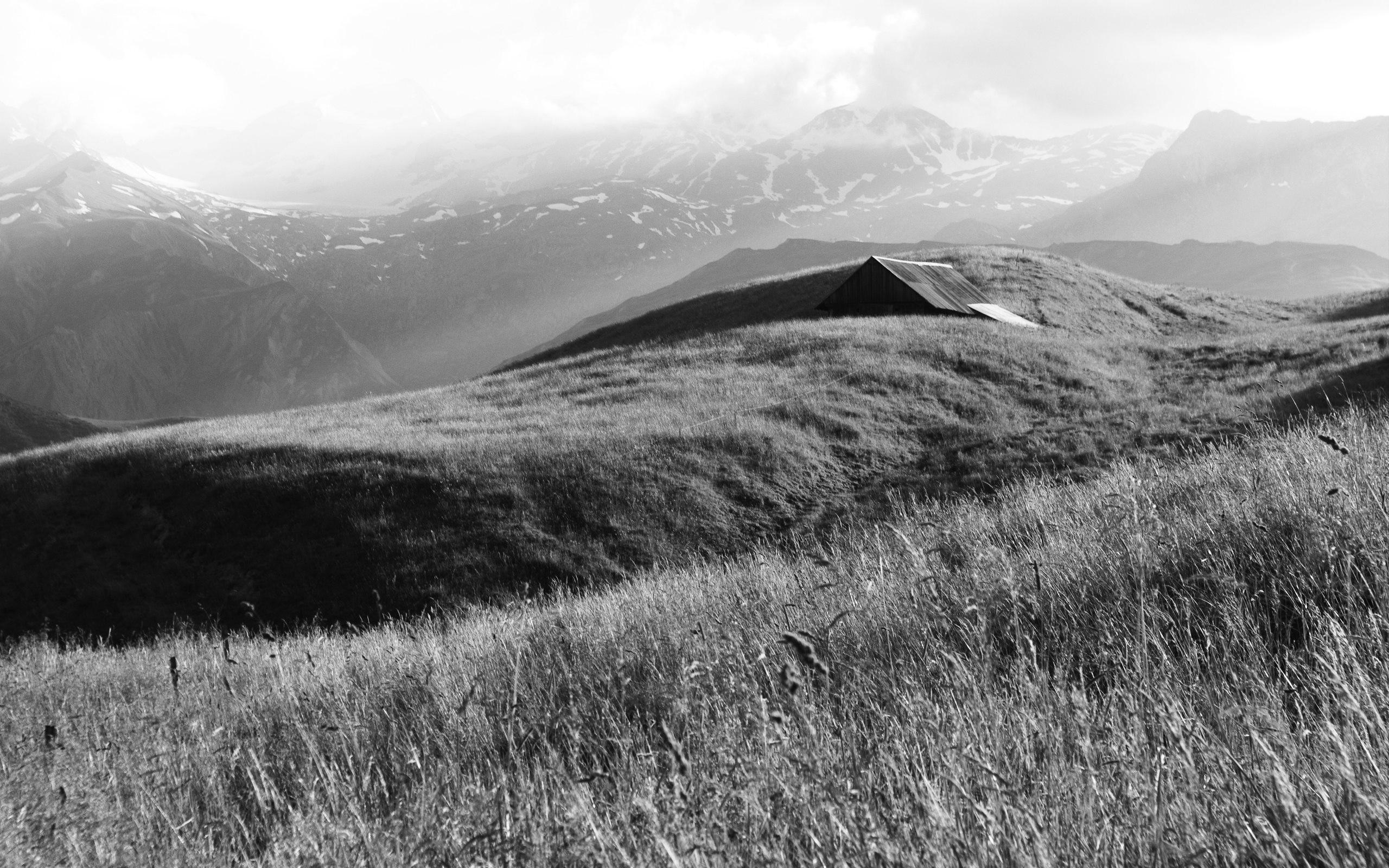 Черно белые горы природа европа альпы