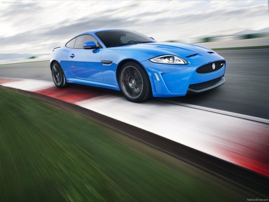blue cars Jaguar XKR Jaguar XKR-S wallpaper