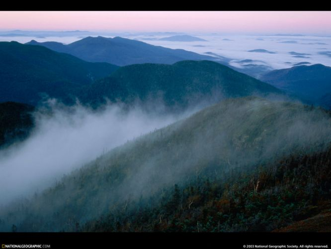 mountains landscapes nature mist National Geographic wallpaper