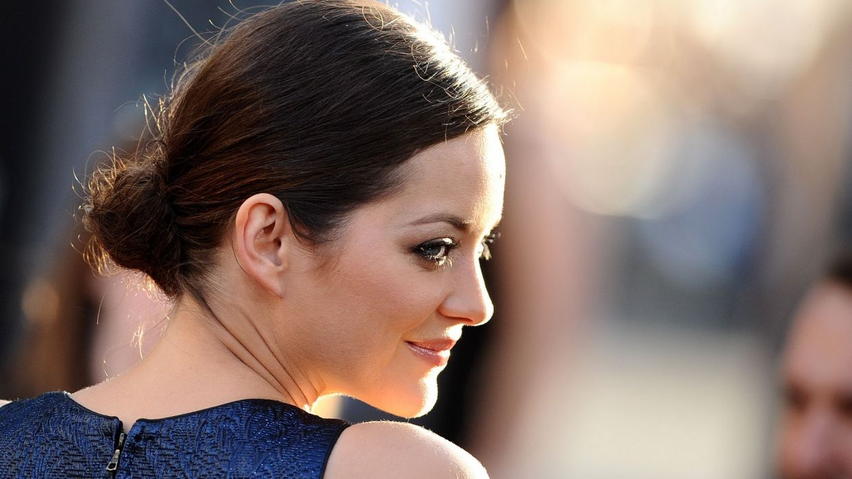 brunettes women actress models Marion Cotillard Hollywood wallpaper